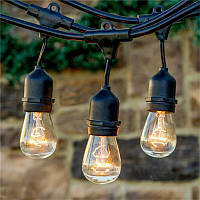 Ретро гирлянды Уличная  5,5  м комплект  10 ламп Эдисона ST GOID 45 патрон Е 27