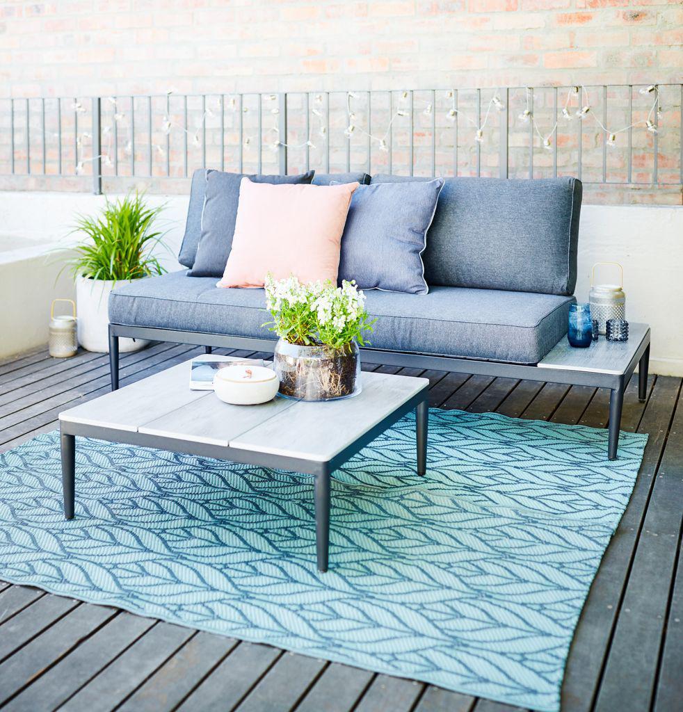Комплект мебели 2-местный серый
