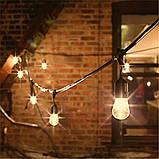 Ретро гирлянды Уличная  5,5  м комплект  10 ламп Эдисона ST GOID 45 патрон Е 27, фото 4