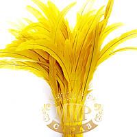 Перо петуха (выберите длину), ширина 2,5см, цвет Yellow, 1шт