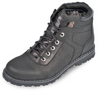 Ботинки мужские кожаные на меху рантовый шов