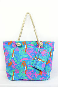 Пляжная сумка Пиза светло-синяя