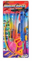 Арбалет игрушечный стрелы на присосках 4шт, на листе