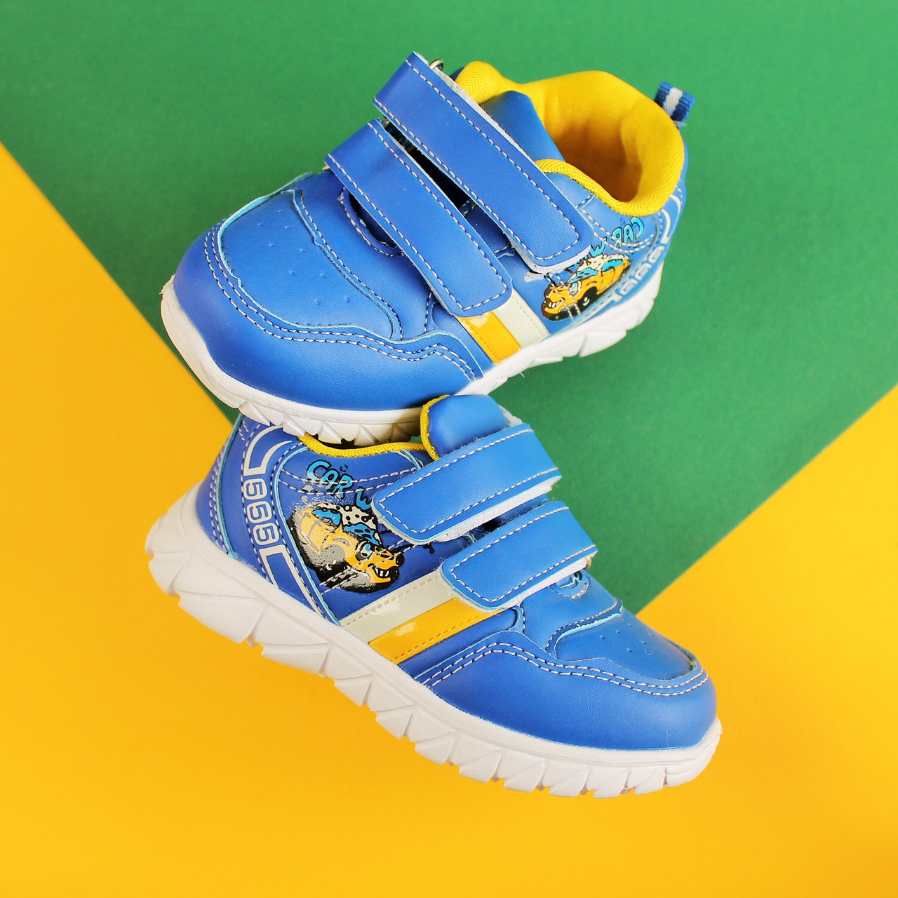 Синие кроссовки на мальчика с желтой полосой тм Тom.m р.21,22