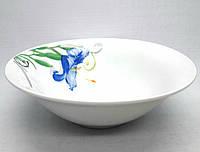 """Набор фарфоровых суповых тарелок TS-7, """"Синяя лилия"""", 6 шт."""