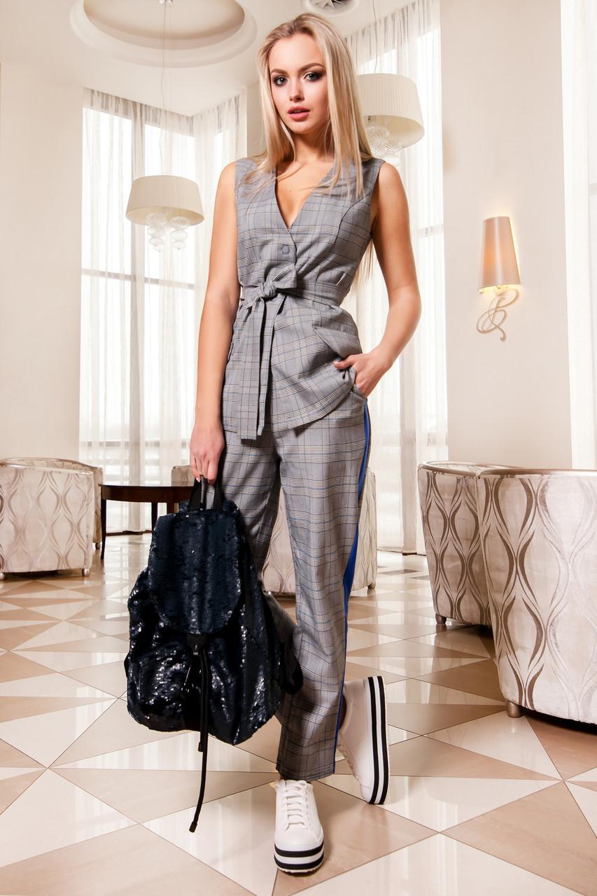 2133187e6e1d Модный Пиджак без Рукавов в Голубую Клетку S-XL - купить по лучшей цене в  Днепре от ...