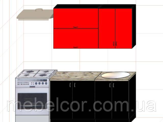 """Кухня """"Модерн"""" длина 1,4 м - вариант №2"""