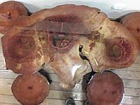Стол резной с табуретками, фото 1