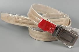 Ремень кожаный автомат брючный King Belts 35 мм с тиснением