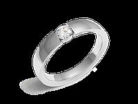 Кольца обручальные Серия Twin Set белое золото с бриллиантами - № 210-0064_200-0064