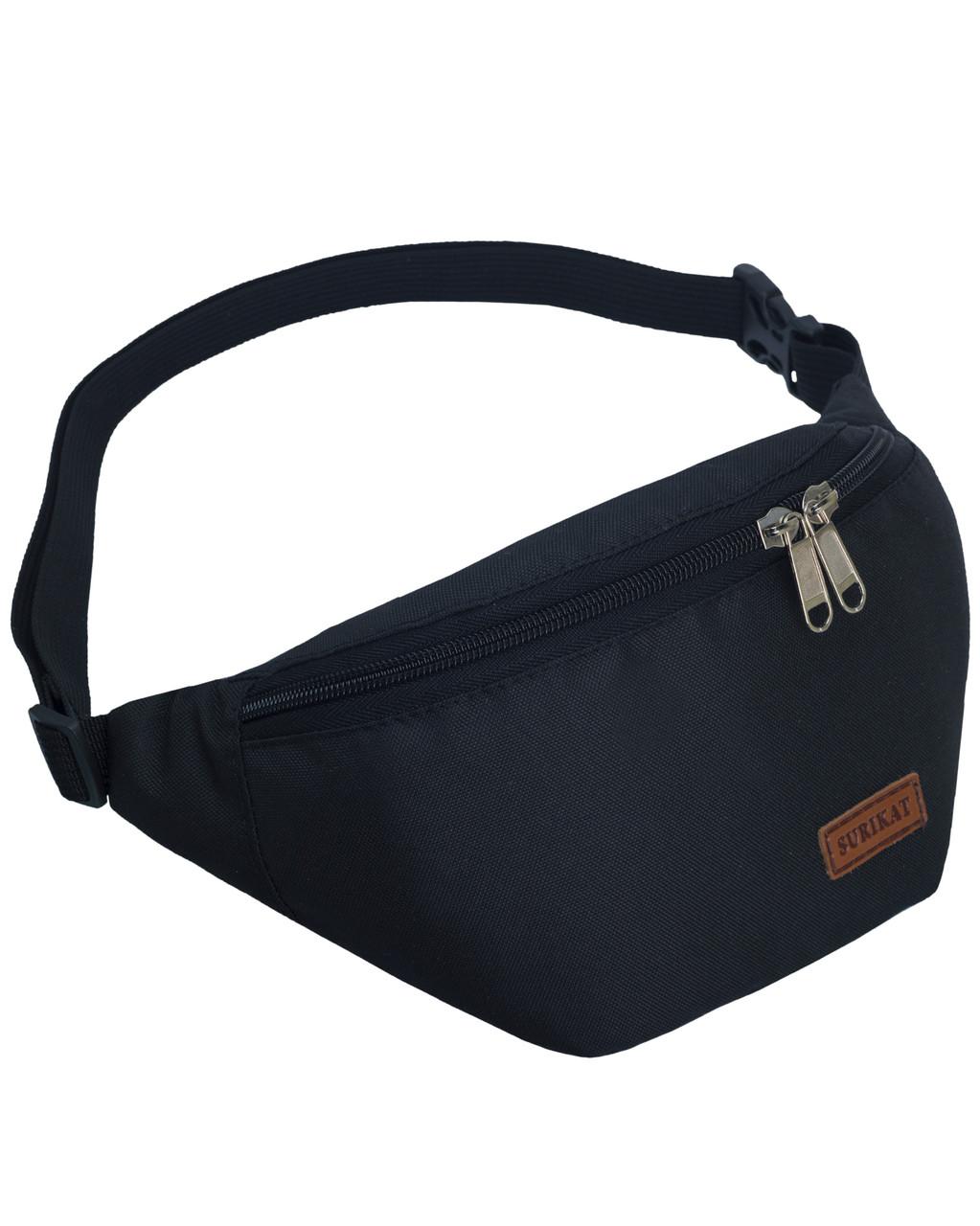 Сумка на пояс бананка Tempo Surikat черный (сумка на пояс, сумки, сумк