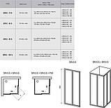 Душові двері RAVAK SRV2-90 S білий+transparent/grape, фото 2
