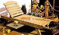 Шезлонг, лежак деревянный модель Днипро-эко. Базовая модель.