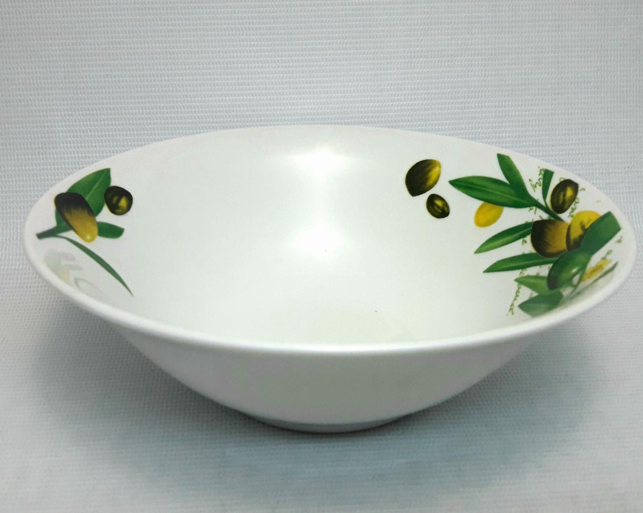 "Набор фарфоровых суповых тарелок TS-7, ""Оливки"", 6 шт."