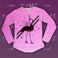 Модная и яркая детская туника для девочки Фламинго