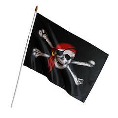 Пиратский Флаг 45х30см с ручкой