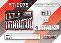 Набор ключей комбинированных 6-32мм, 25шт, YATO YT-0075