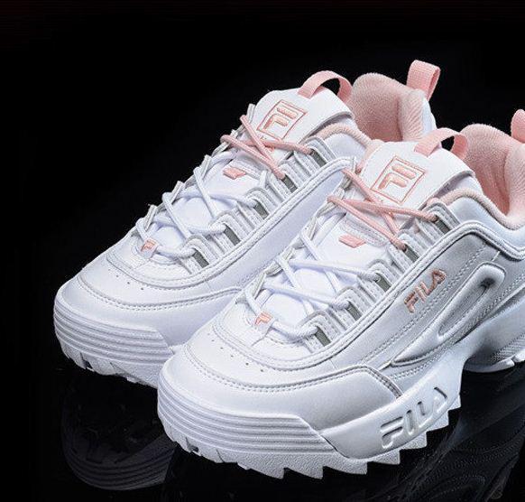 Кроссовки женские Fila Disruptor 2 White-Pink - Интернет магазин обуви Air  Shoes в Киеве 62d57a1028fb1