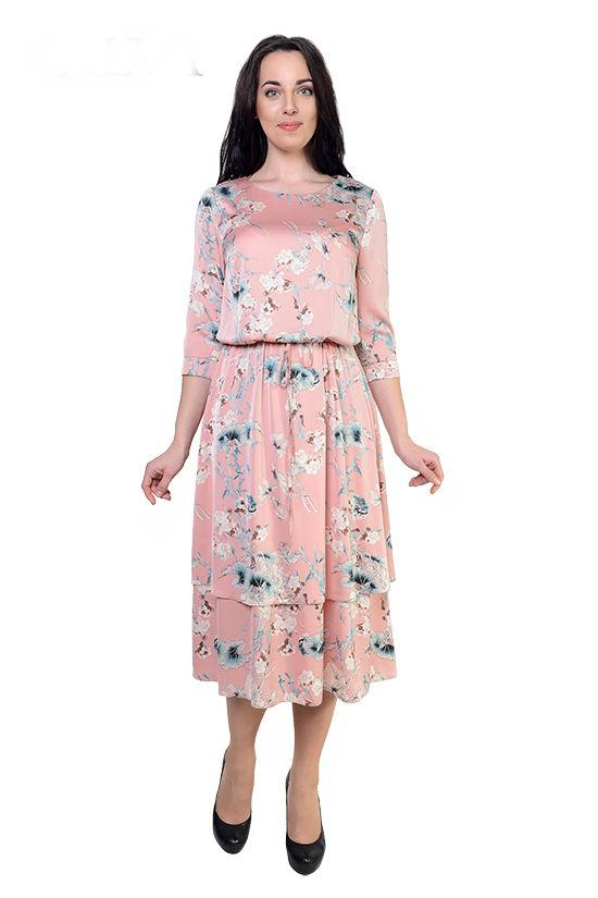 dc4e5b86e8f Купить Длинное летнее платье с цветочным принтом 690649446 - Грация ...