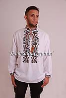 Заготівля чоловічої сорочки для вишивки нитками/бісером БС-68ч, фото 1