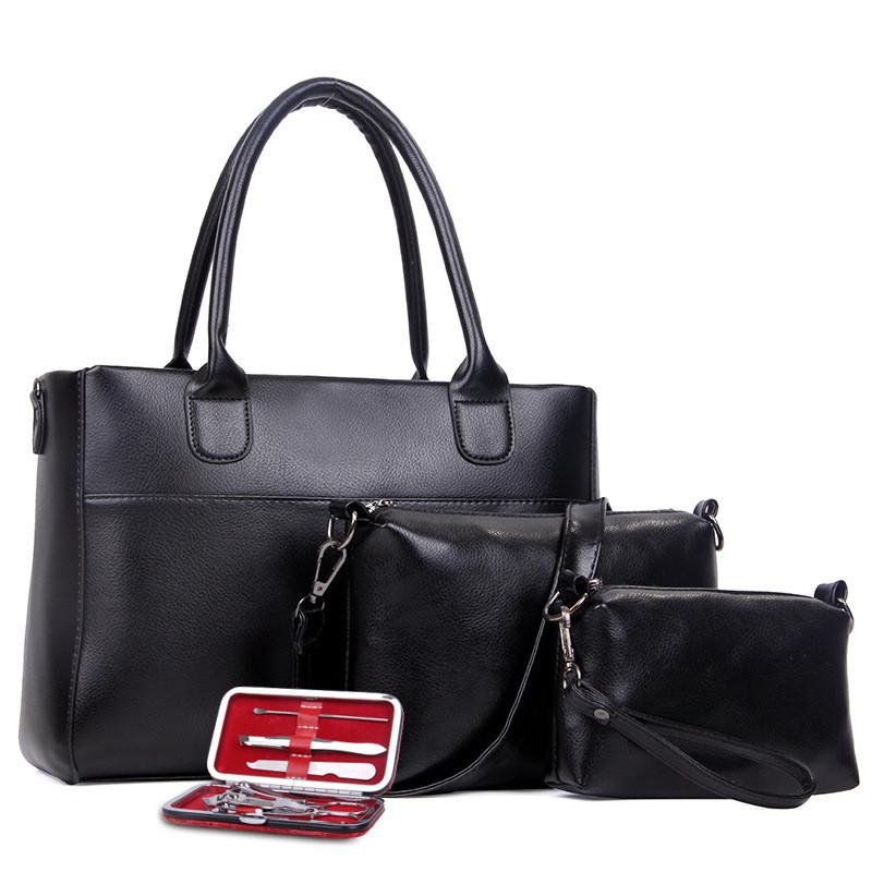 4ef1af912939 Женская сумка набор 3в1 + маникюрный набор черный, цена 702,90 грн ...