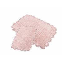 Набор ковриков для ванной Irya - Mina pembe розовый 60*90+40*60 см