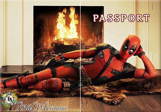 Обложка обкладинка на паспорт Deadpool 4 вида! Дэдпул