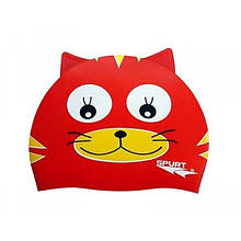 Шапочка для плавания Spurt силикон RED CAT