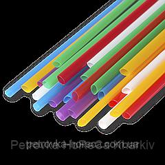 Трубочка для мохито 3мм 20см  500шт Микс (разноцветная)