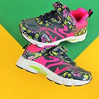 Яркие кроссовки на девочку с цветочным принтом тм Том.м р. 26,29,30,31