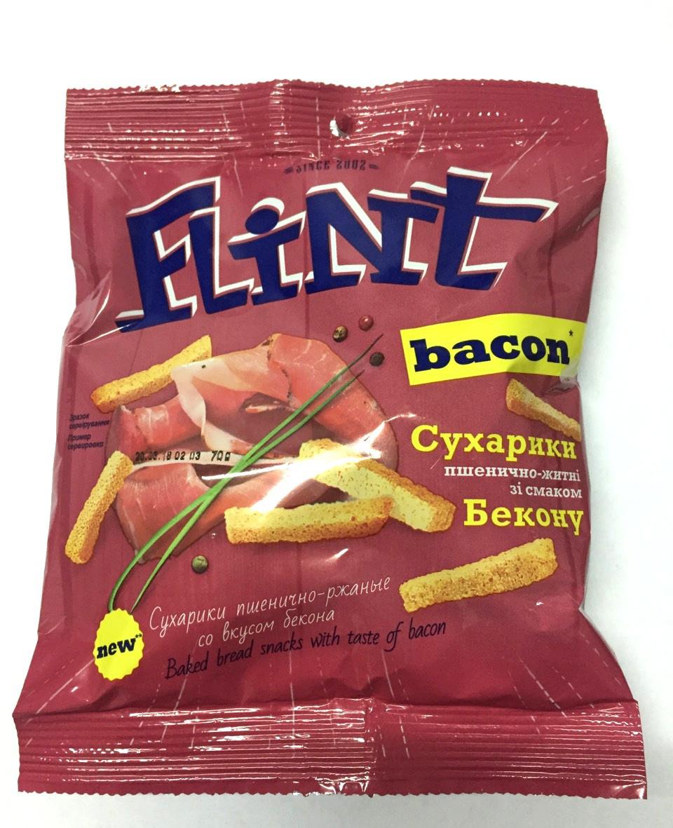 Сухарики Флинт со вкусом бекона 70г