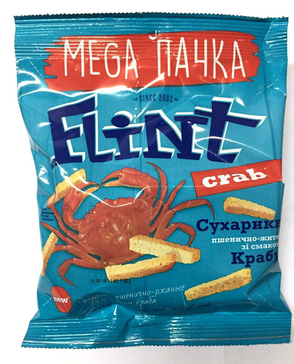 Сухарики Флинт со вкусом краба 110г