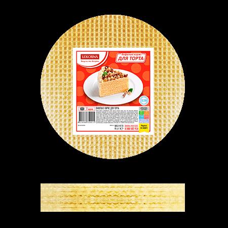 """Вафельные коржи для торта 65г """"Лекорна"""""""