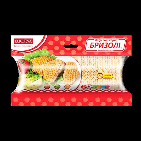 """Вафельные коржи бризоли 50г """"Лекорна"""""""