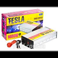 Преобразователь напряжения TESLA ПН-31000 12V-220V, 1000W, USB- 5VDC0,5A, син.волна, клеммы, инвертор напряжения, автомобильный инвертор