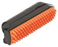 Щетка с липким роликом для чистки одежды 23см оранж/черная