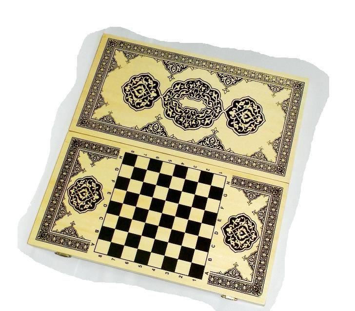 Нарды+шашки+шахматы (3 в 1) дерево р. 40х40 см