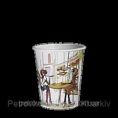 Одноразовый стакан 175 мл. ДЛЯ ВЕНДИНГА  50шт.(54/2700) Город зеленый