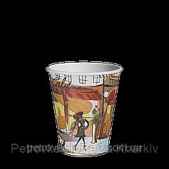 Одноразовый стакан 175 мл. ДЛЯ ВЕНДИНГА  50шт.(54/2700) Город красный