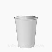 "Одноразовый стакан, серия ""Белый"", 250мл. 50шт/уп (1ящ/48уп/2400шт) под крышку КР75"