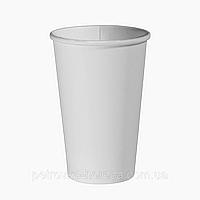 "Одноразовый стакан, серия ""Белый"", 500мл. 35шт/уп (1ящ/20уп/700шт) под крышку КР""Т""91/РОМБ91"