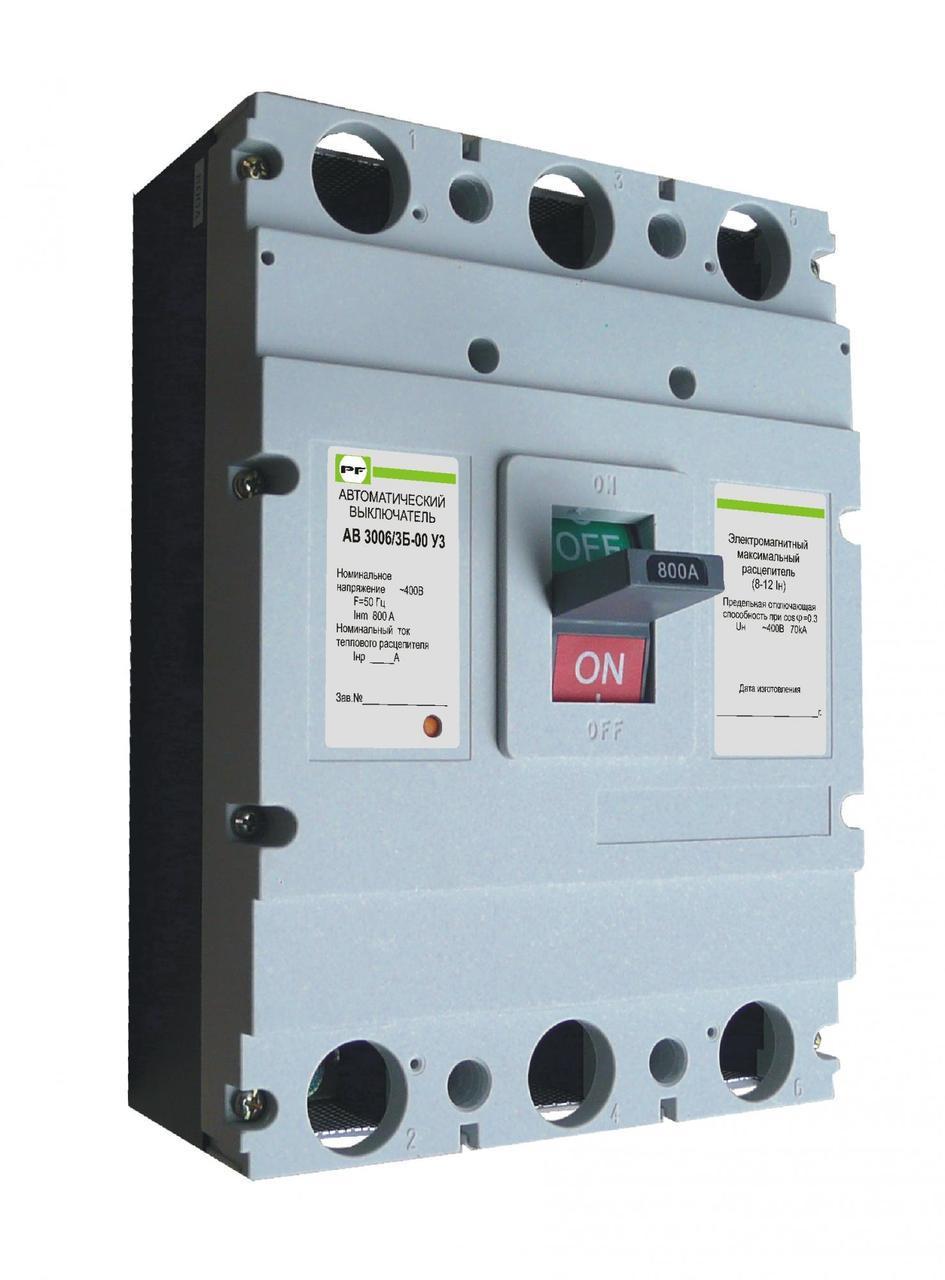 Автоматичний вимикач Промфактор АВ3006 630-800А 3Р