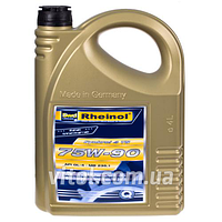 Трансмиссионное масло для машины Rheinol Synkrol 4 TS 75W- 90, вязкость 75W-90, объем 4 л, автомобильные масла, машинное масло