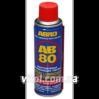 Проникающая смазка для автомобиля ABRO AB 80, объем 283 мл, автомобильная смазка для автомобиля, машинная смазка для автомобиля