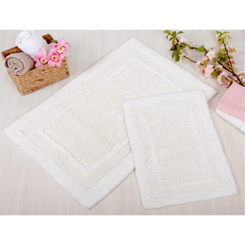 Набор ковриков для ванной Irya - Superior krem кремовый 60*90+40*60 см