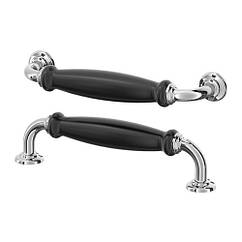 Мебельная ручка IKEA SKÄRHAMN 2 шт 148 мм черный хром 503.487.86