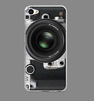 Силиконовый бампер для Xiaomi Redmi Note 5a с рисунком объектив фотоаппарата