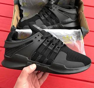 Кроссовки Мужские Adidas EQT Equipment Support ADV Triple Black, Адидас ЕКТ