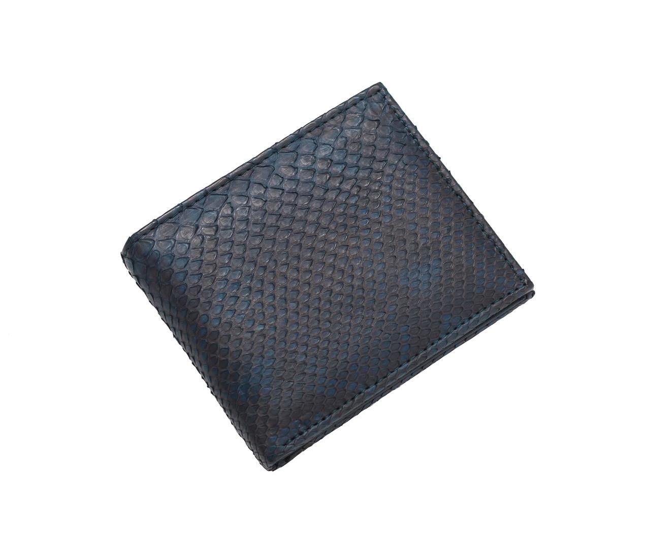 Портмоне из кожи питона Синее (snw 27_2)