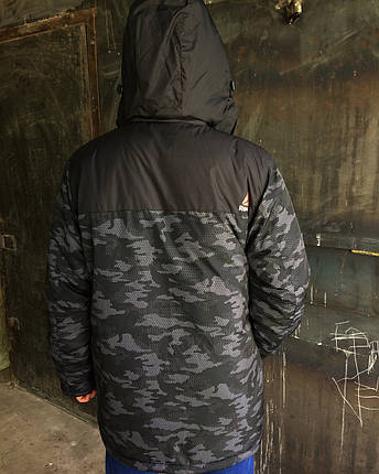 Мужская зимняя куртка Reebok камуфляж , фото 2